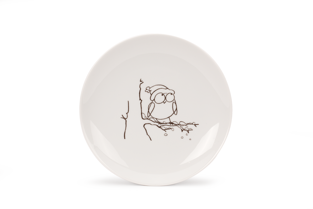 Porzellangeschirr Mit Eulendekor   Porzellan   Grüne Erde