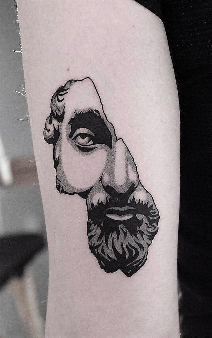 Illustration Tattoos: 33 Bold Illustrations Blackwork Tattoos