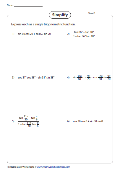 Pin on Trigonometry Worksheets