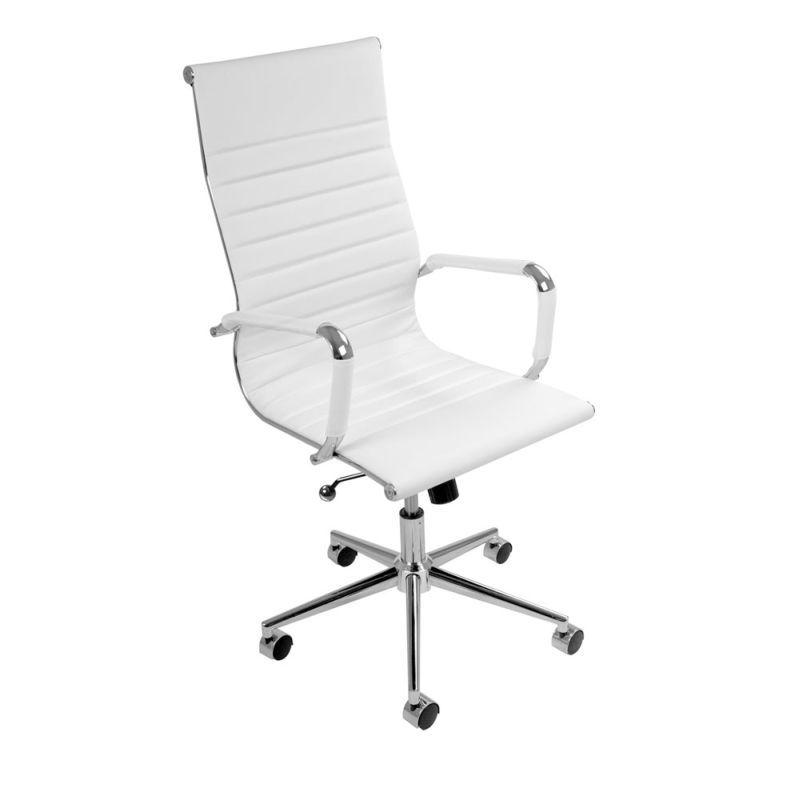 Eames replica pu leather executive chair white chair