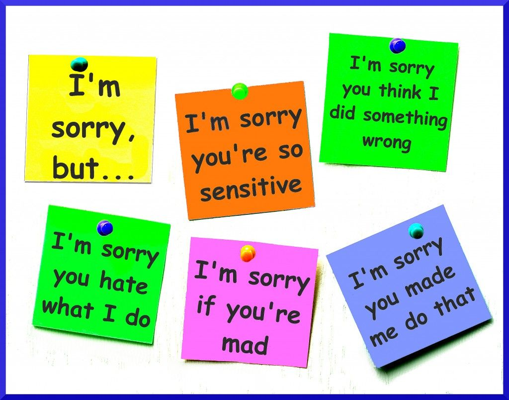 Blog Post About Fake Apologies Excuses, Blame And Shame,