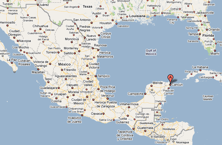 Our Interactive Map Of Cancun Mexico Lets You View Traffic And: Map Of Cancun Mexico At Infoasik.co