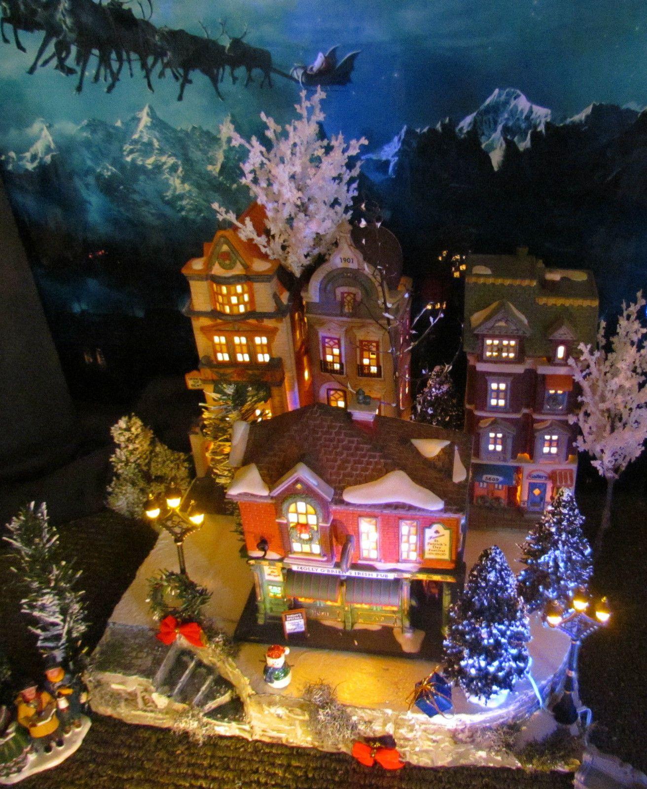 Christmas Village Platforms For Sale.Details About Multi Level Curved Christmas Village Display