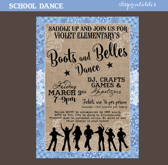 Country Dance Hoedown Throwdown Line Dance Western Template Etsy Country Dance Poster Invitation Line Dancing