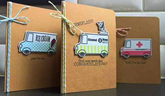 Greeting Card Set of 3 Birthday Card Get Well by apaperaffaire