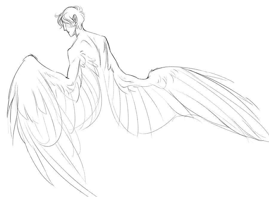 Anime Base Ych Anime Base In 2020 Art Sketches Art Reference Photos Wings Drawing