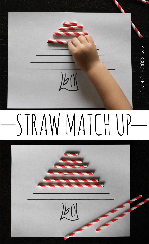 Super Fun Preschool Math Activity Make A Straw Christmas