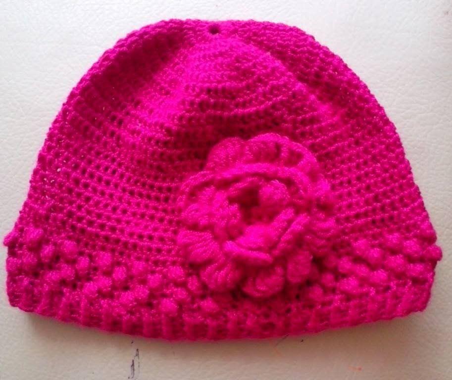 Como Hacer un Gorro en Crochet Para Niña | gorros tejidos ...