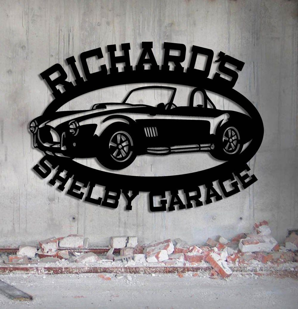 art garage il car sign signs metal wall zoom personalized camaro fullxfull listing
