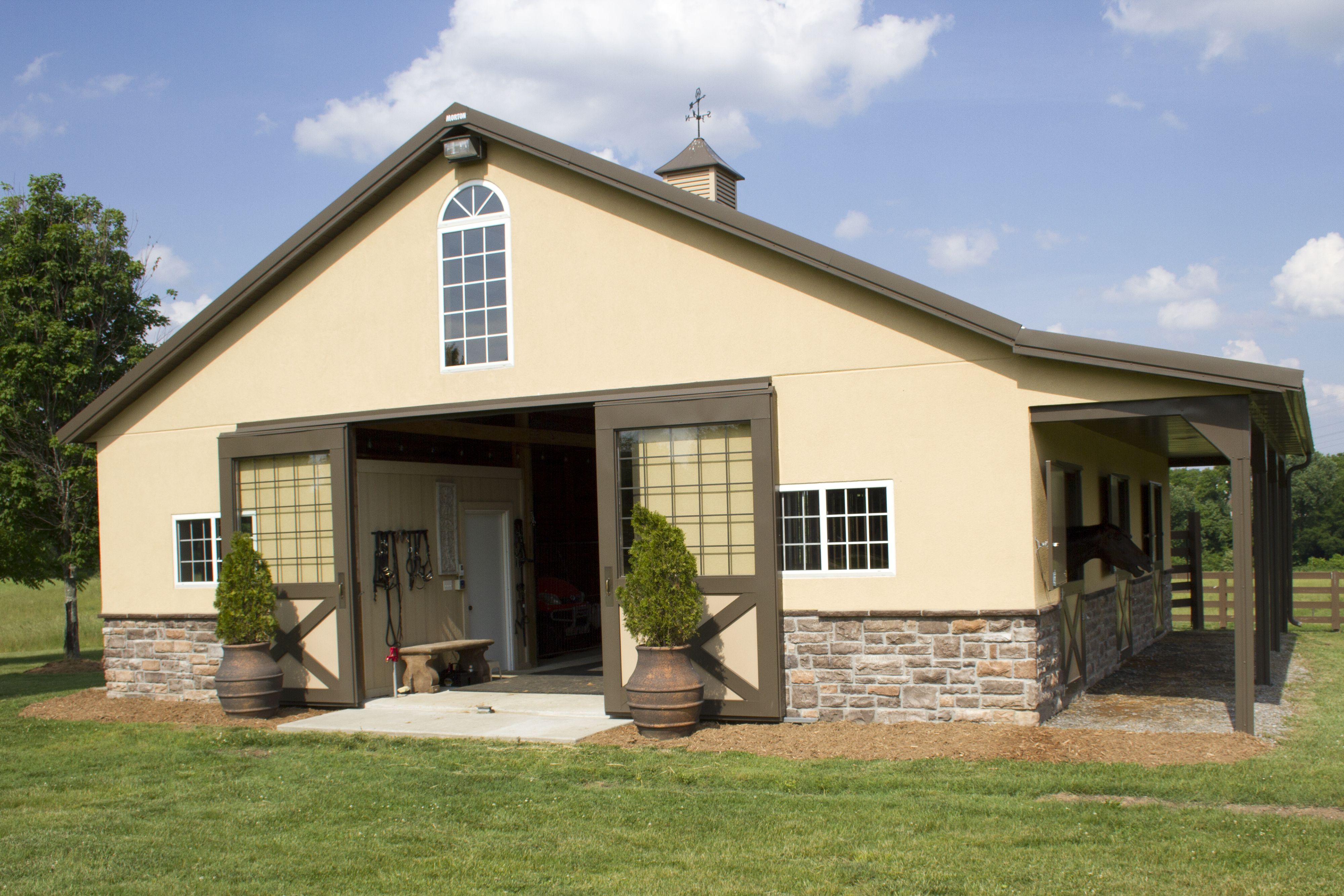 Morton buildings equestrian on pinterest for Horse barn building