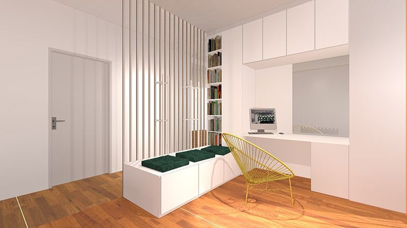 Changer définir une entrée et créer un coin bureau appartement