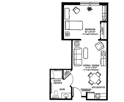 Pin By Michele Jones On Good To Know One Bedroom House One Bedroom House Plans House Plans