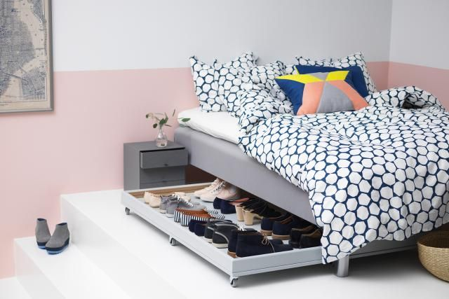 21 Best Ikea Storage Hacks For Small Bedrooms Under Bed Shoe Storage Small Bedroom Storage Ikea Shoe Storage