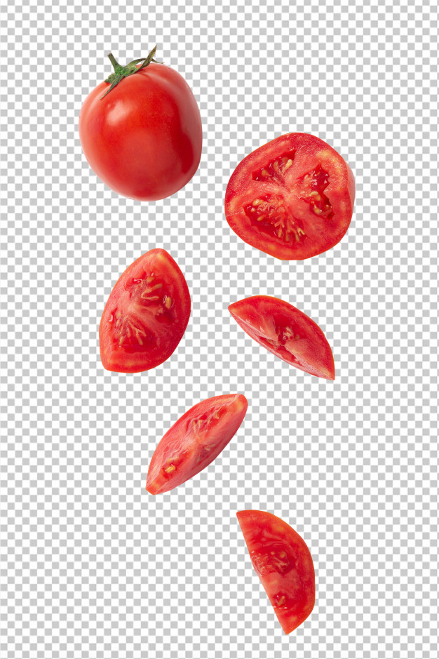 Falling Sliced Tomato Tomato Sliced Tomato Sliced