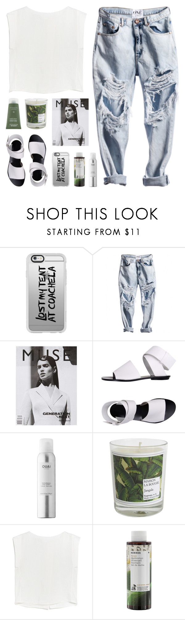 """""""paper ghosts"""" by martosaur ❤ liked on Polyvore featuring Casetify, Proenza Schouler, Ouai, Maison La Bougie, MANGO, Korres and Aveda"""