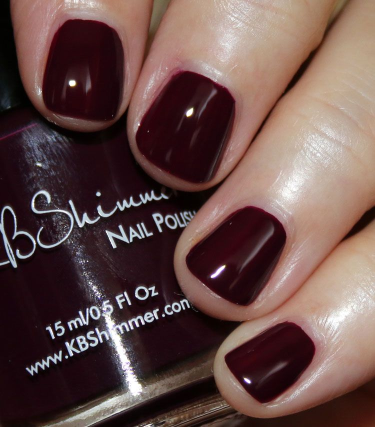 KBShimmer Let\'s Fang Out by Sam from Nailed It is a deep creamy plum ...