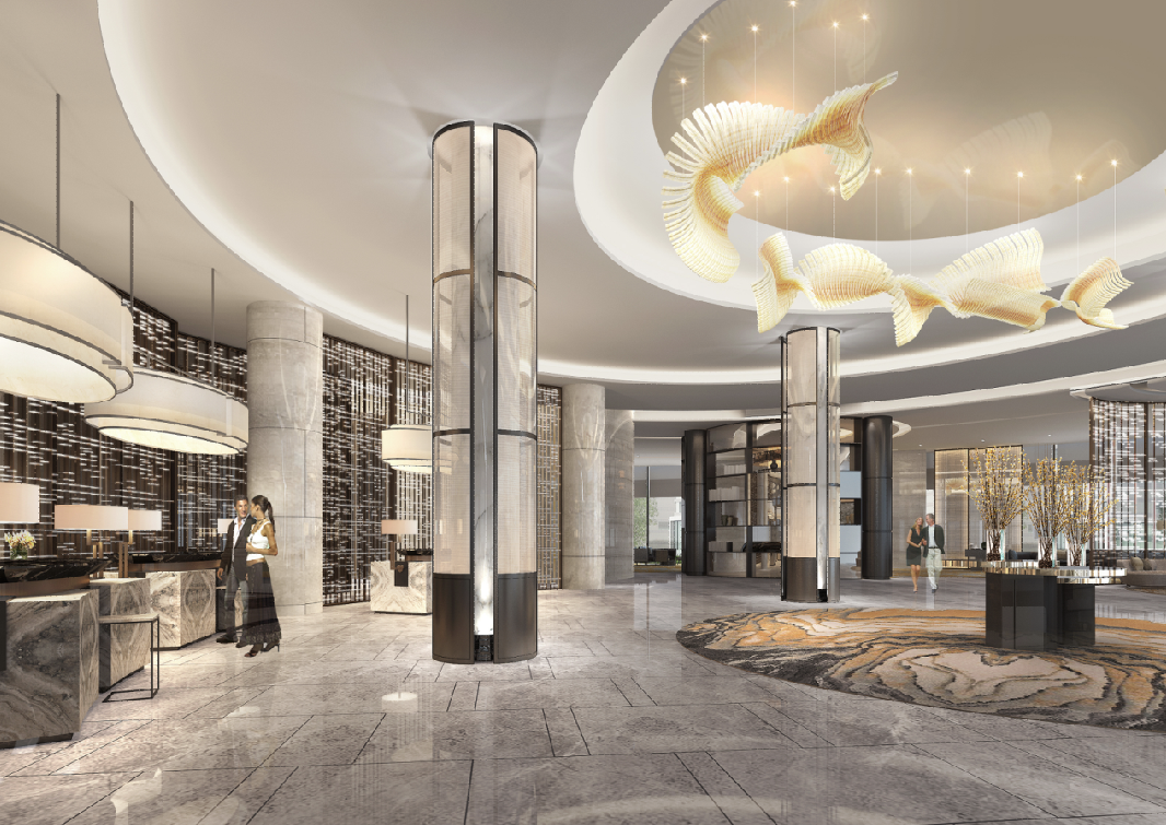 Pin by master xu on 01a lobby hotel lobby design for Modern hotel decor