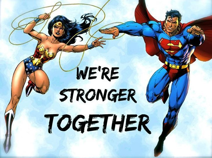 Everyone Needs A Swole Mate Superman Wonder Woman Wonder Woman Wonder Woman Art