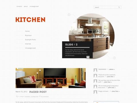 Kitchen Free WordPress Theme  WordPress Templates  Pinterest Classy Kitchen Design Website Design Decoration