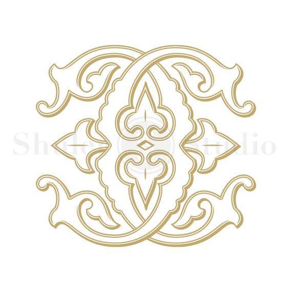Cc Monogram Wedding Design Digital Custom