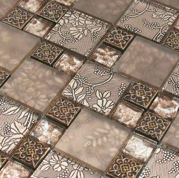 Resin Mosaic Tile Glass Stone Blend Resin Mosaic Tiles Bathroom Rnmt008 Modern Mosaic Ti Mosaic Bathroom Tile Modern Bathroom Tile Glass Kitchen Wall Tile