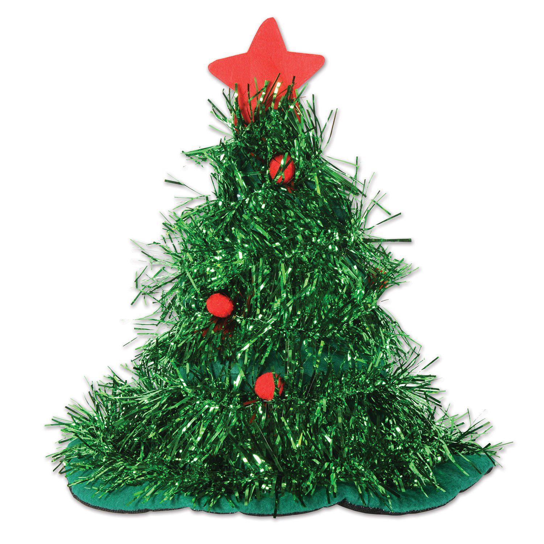 Beistle Tinsel Christmas Tree Hat (12ct) | Tinsel christmas tree ...