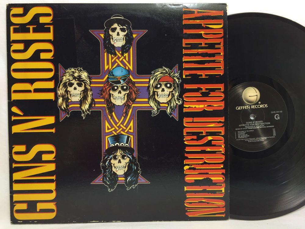 Guns N Roses Appetite For Destruction Original Vinyl
