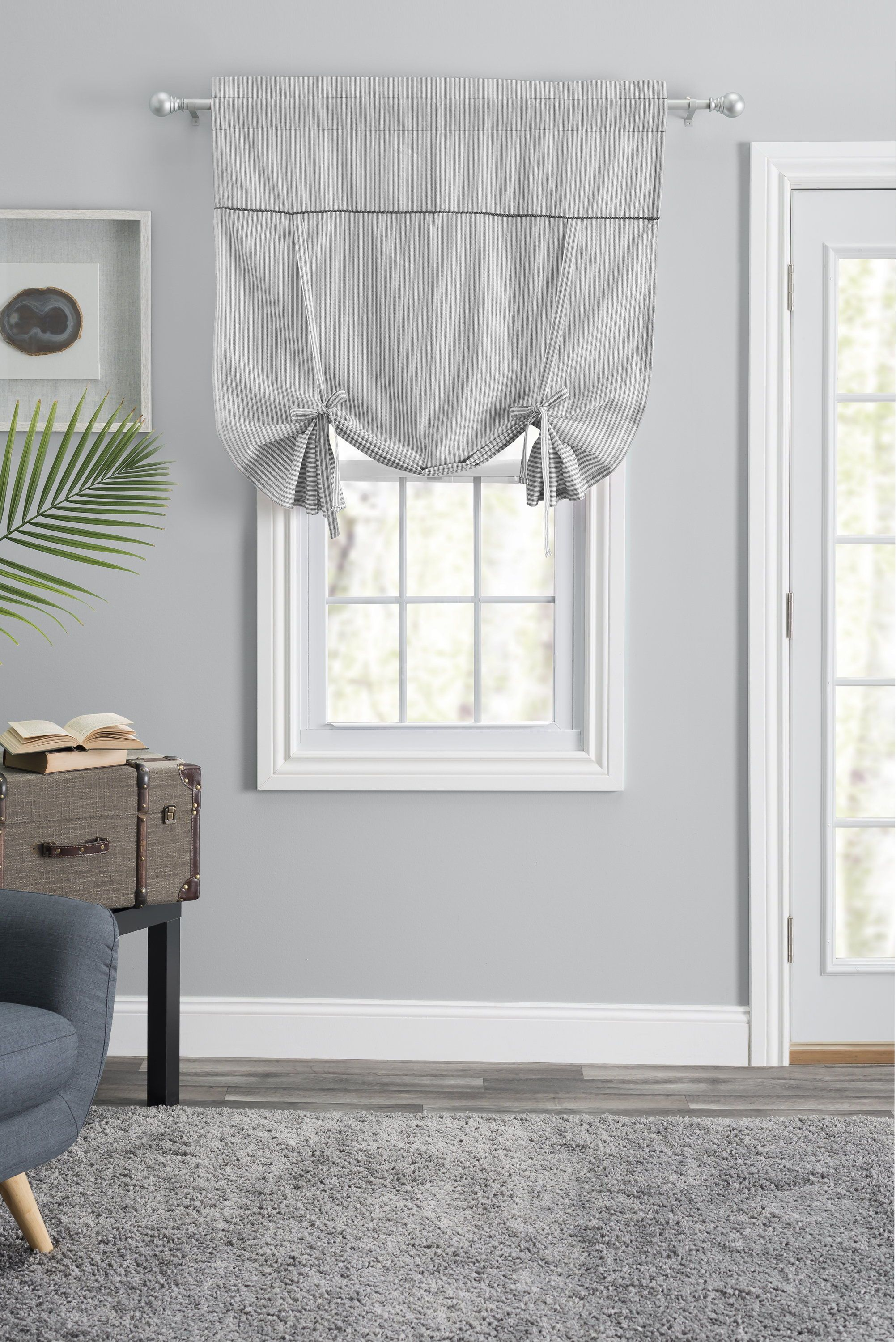Farmhouse Valances Rustic Valances Tie Up Shades Mattress Furniture Curtains