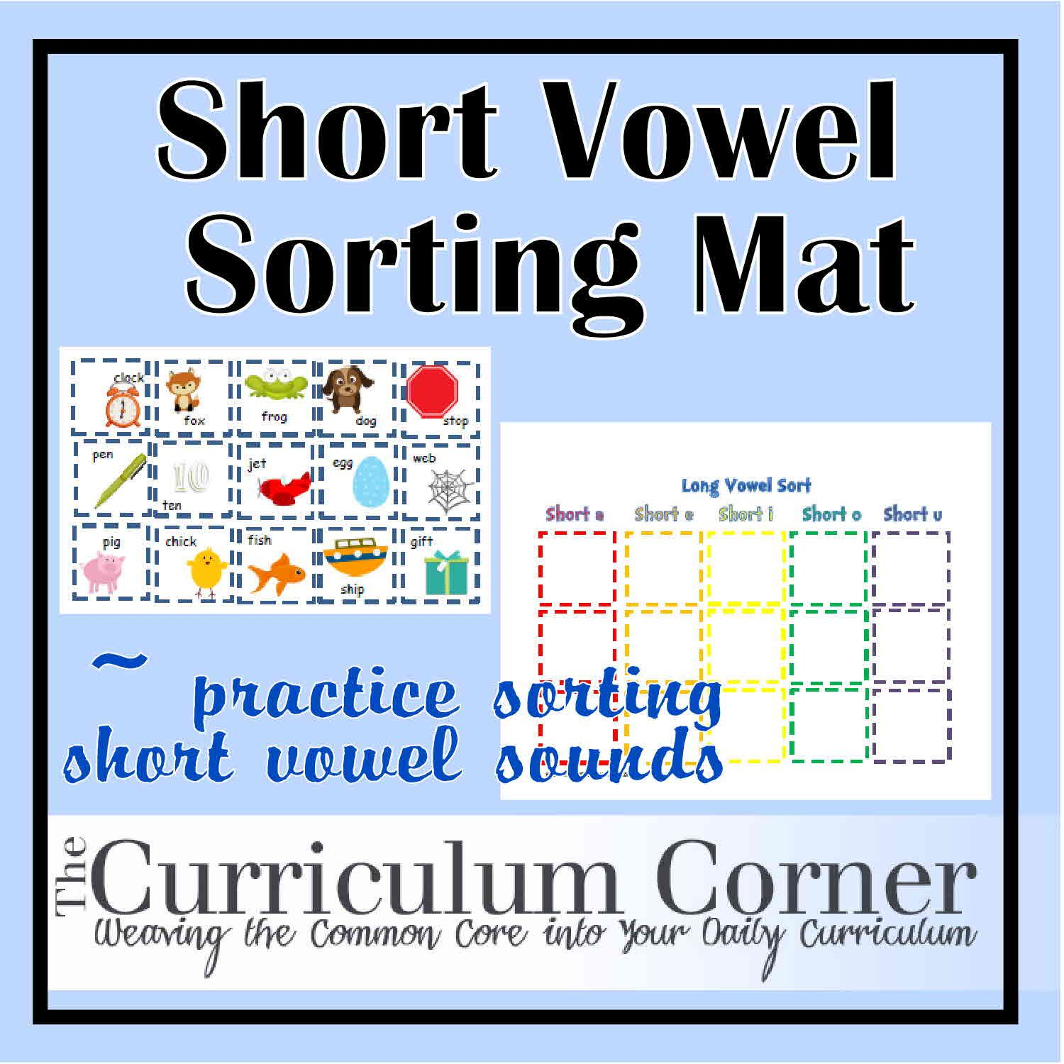 Short Vowel Sorting Mat
