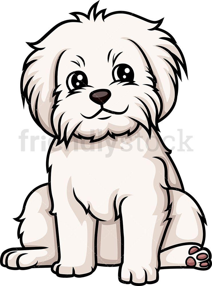 Cute Maltese Puppy Cartoon Clipart Vector Friendlystock In 2021 Puppy Cartoon Cartoon Clip Art Cartoon Dog