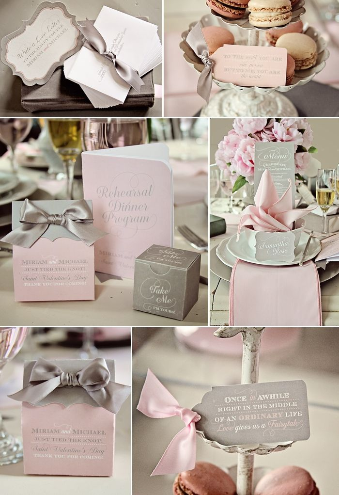 Decoration Mariage Grise Et Rose Lou S Wedding Pinterest