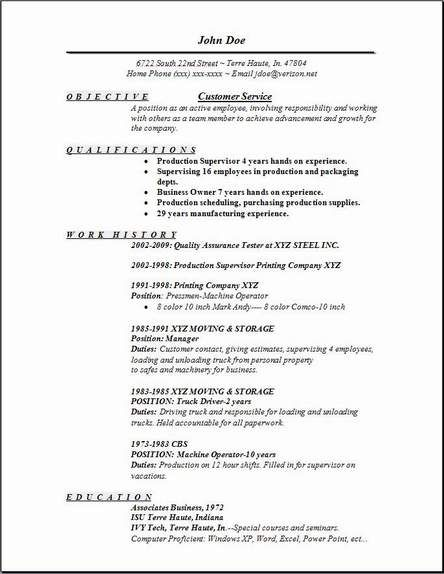 Example Of A Customer Service Resume Good Resume Examples For