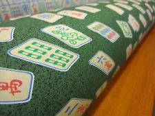 mah jong jongg Dark Green FABRIC mah-jong COTTON MATERIAL GREEN 6 Yards!!