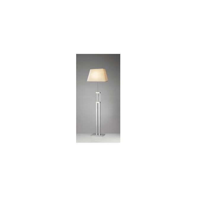 Dar domain 1 light modern floor lamp quartz glass and polished chrome finish floor lamps from ocean lighting uk