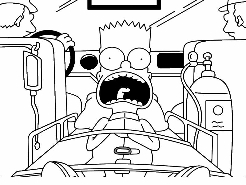 Immagini Da Colorare Simpson: Bart Simpson Rapper Coloring