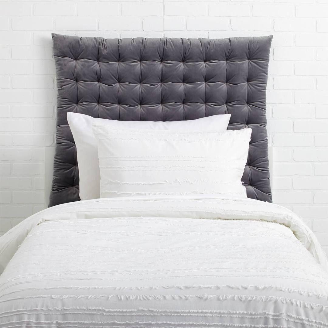 Twin Twin Xl Velvet Tufted Headboard Cushion Grey Dorm Room