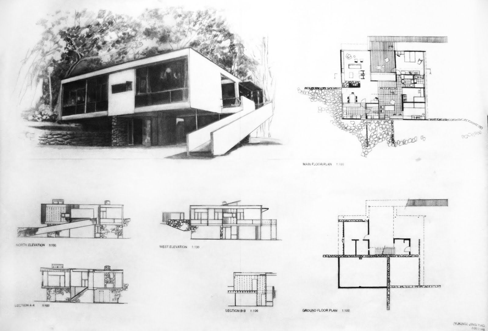 Rose Seidler House Final Project Rose Seidler House Mid Century Exterior Architecture Architecture Design