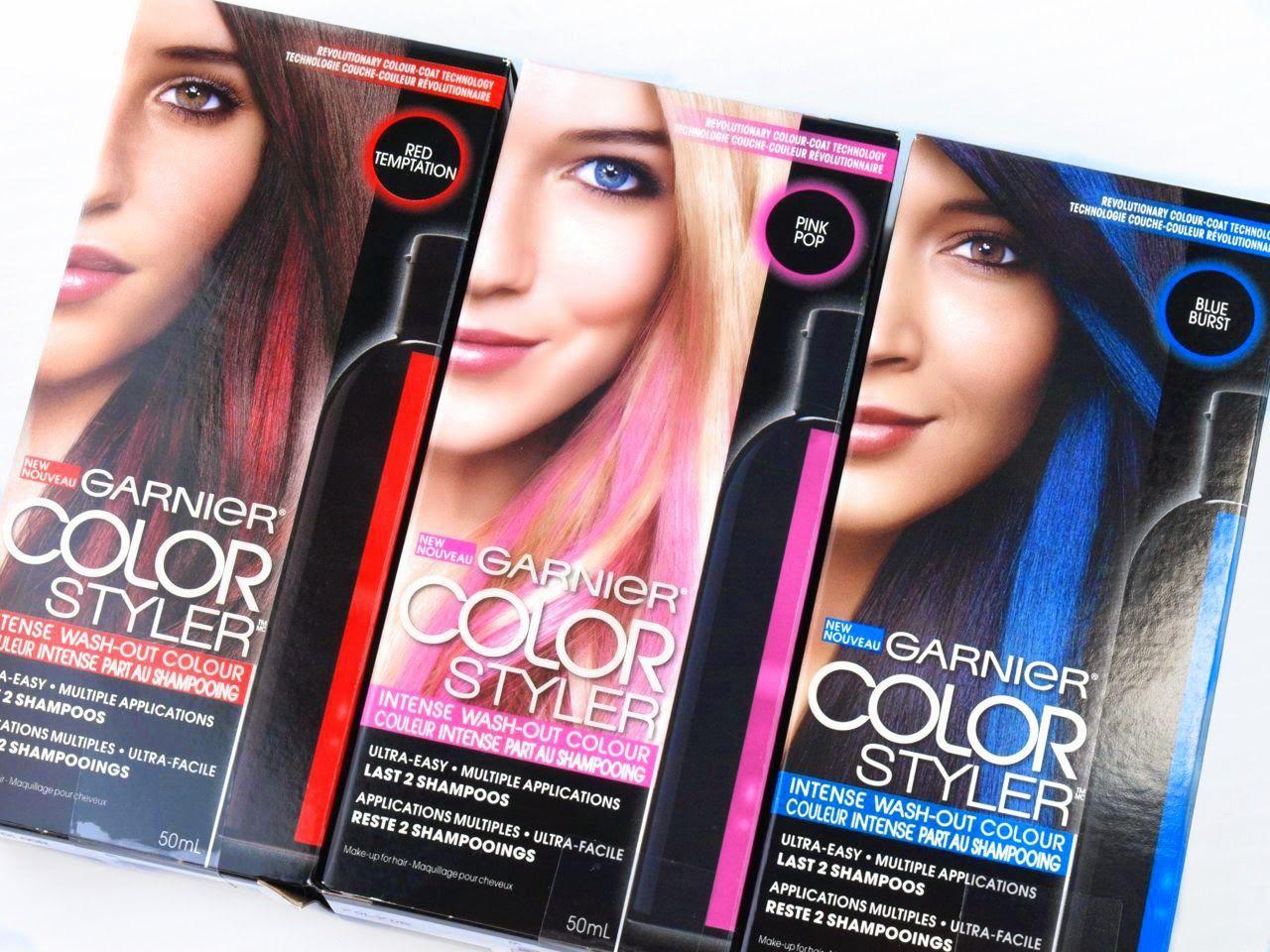 Garnier Color Styler Intense Wash Out Color Review Wash Out Hair Color Temporary Hair Color Hair Color Reviews