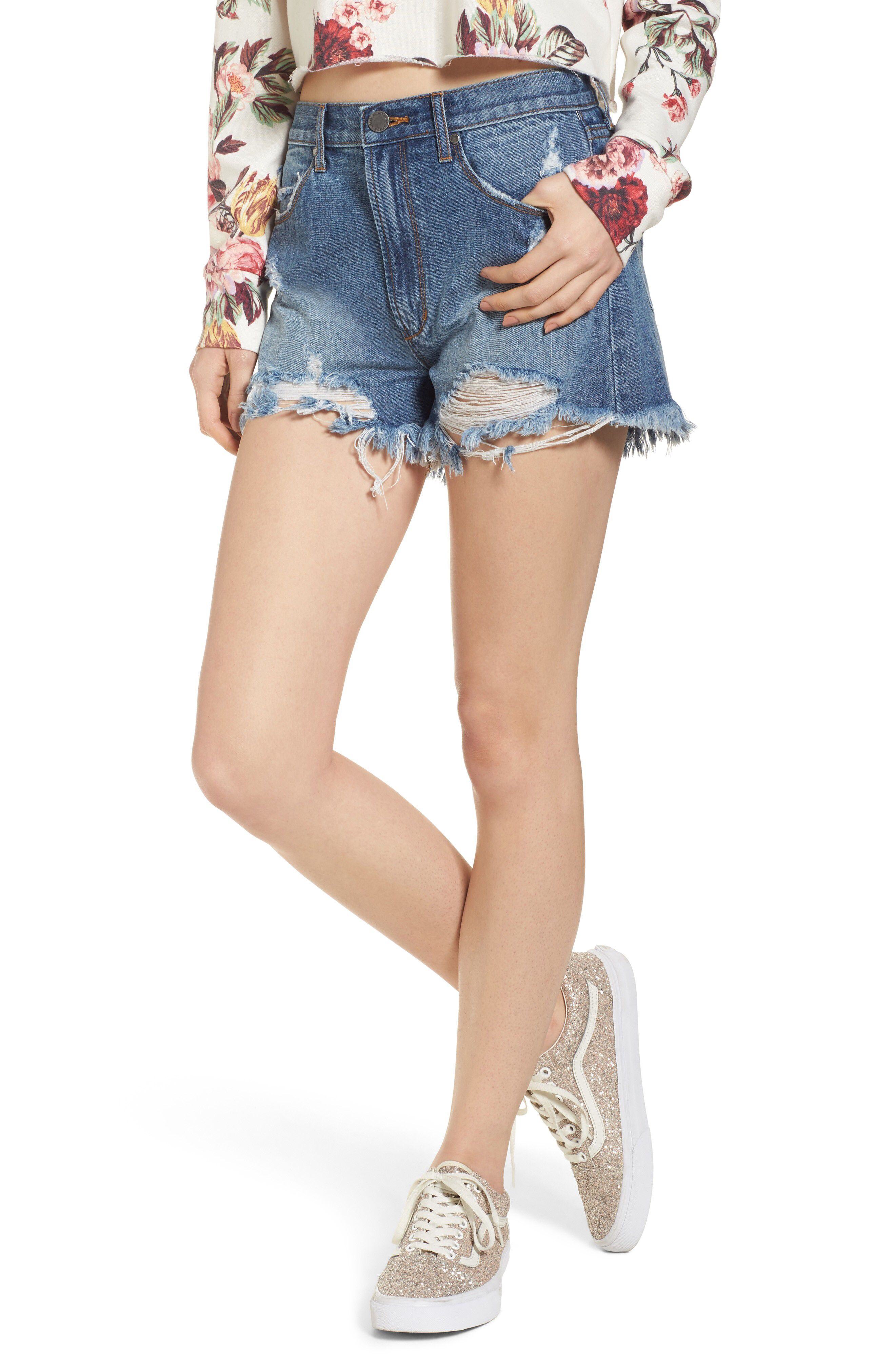 b6c453d5cc Articles of Society Meredith Destroyed Hem Denim Shorts available at  #Nordstrom