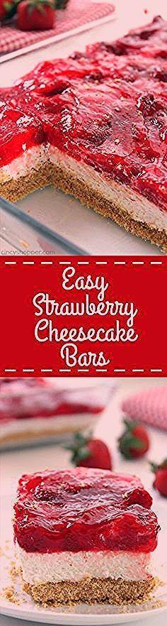 Photo of Easy Strawberry Cheesecake Bars