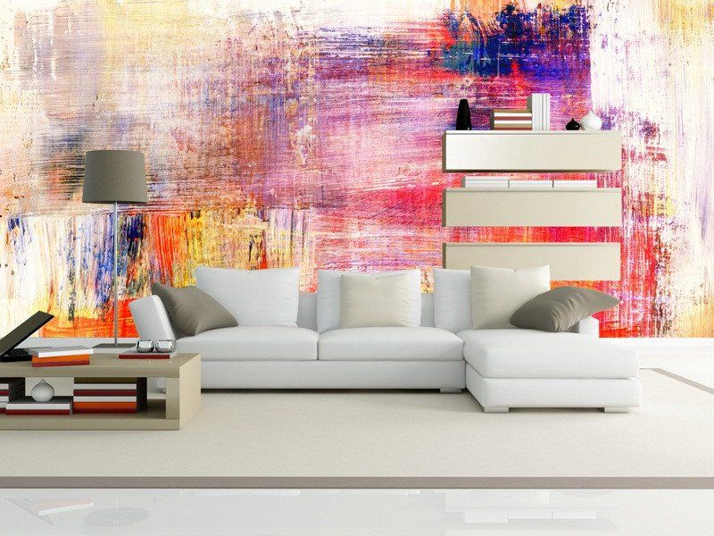 Abstract Painting Wall Mural | bedroom | Pinterest | Painting walls ...