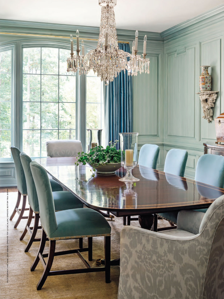 Design Of Dining Room And Living Room: From Southern Lady Magazine