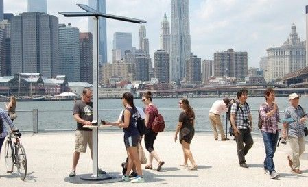 Street Charge solar charging stations for smartphones make New York debut