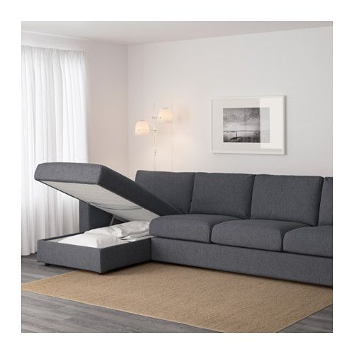 Vimle sof 4 plazas chaiselongue gunnared gris ikea for Sofa 4 plazas mas chaise longue