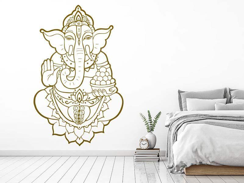 Ganesha - Wandtattoo Ganesha and Yoga
