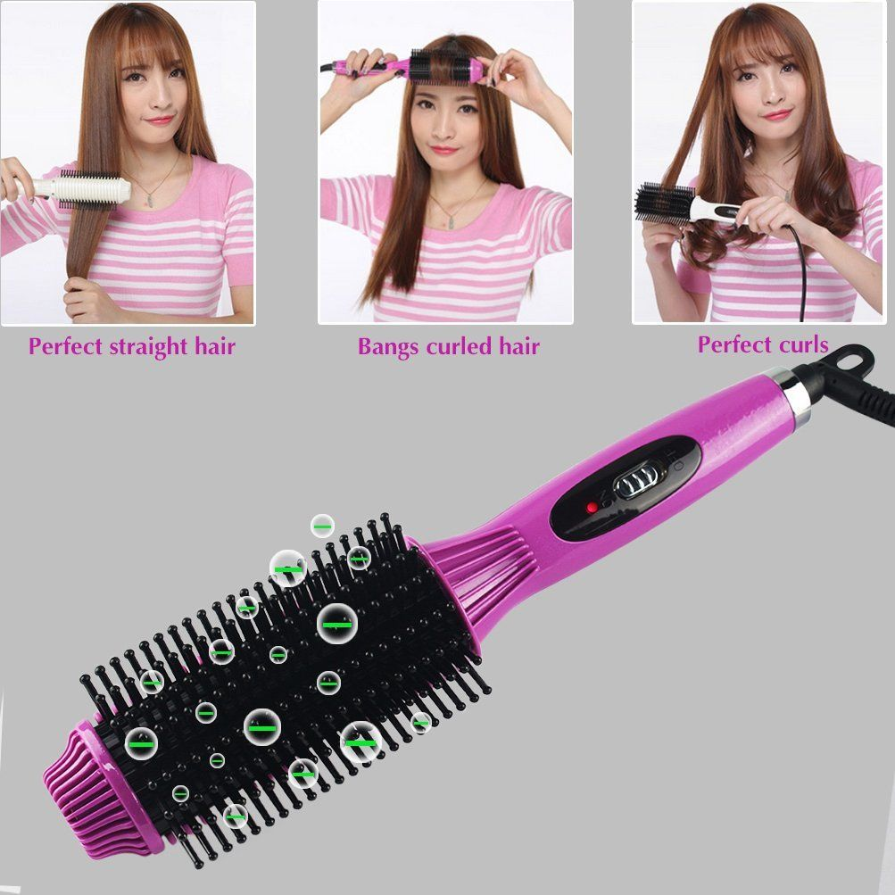 Hair Straightener Hot Hair Brush Ceramic Curling Wand 3 In 1 Harmless New Styling Tools Support Dual Voltage Anti Sc Hair Straightener Brands Hair Wand Curls