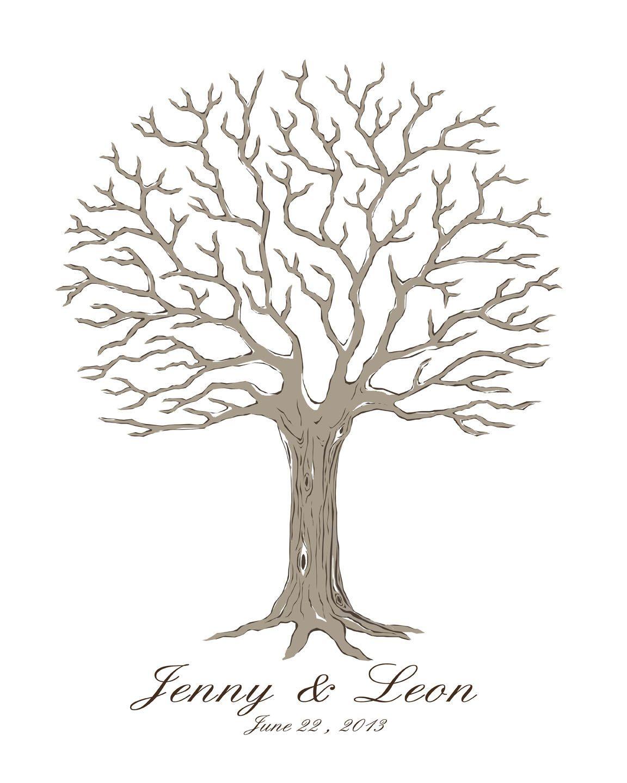 завораживают шаблон свадебного дерева пожеланий сделанный