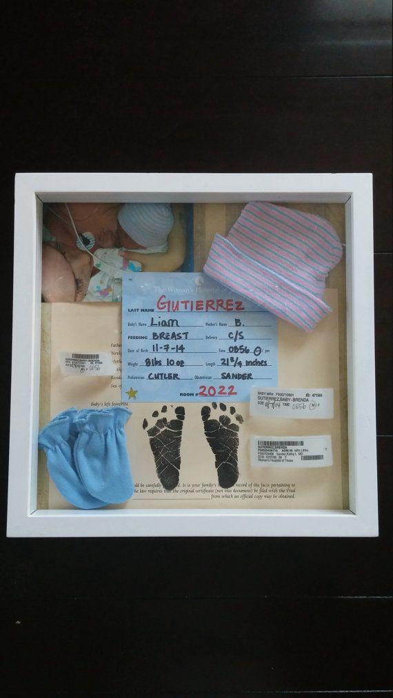 Newborn shadow boxes | Paper Crafts | Pinterest