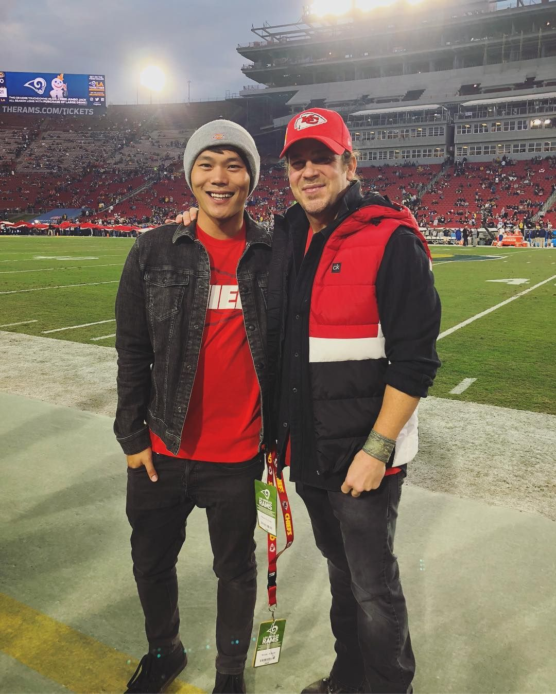 John Harlan Kim On Instagram Monday Night Football Rams Chiefs Sitting In The Owner S Box I M Pretty Sur Christian Kane Monday Night Football Monday Night