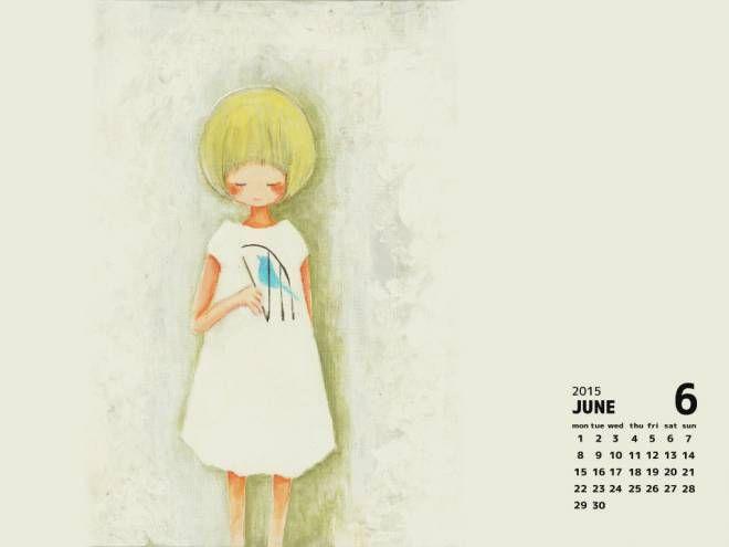 2015年6月デスクトップカレンダー(1024×768)